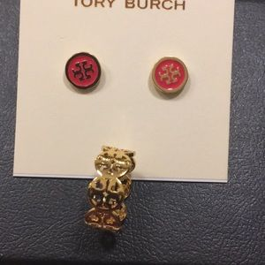 Tory Burch ring and earrings